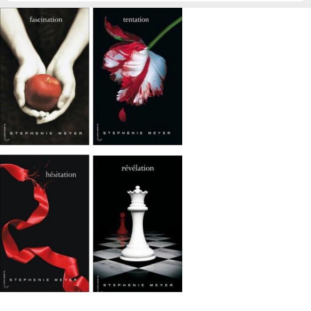 4 livres de Twilight