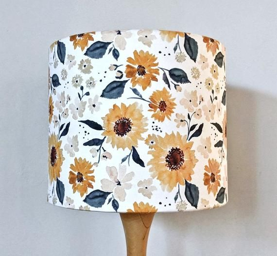 Sunflowers And Cream Lamp Shade Light Shades Bedside Table Lamps Floor Lamp Bedroom Lamps Pendant Light Lampshade In 2020 Cream Lamp Shades Cream Lamps Floor Lamp Bedroom