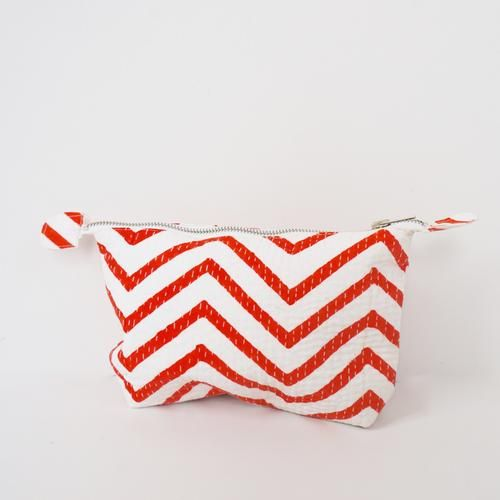 POUCH by TIKAU (Small, red/white zickzack)