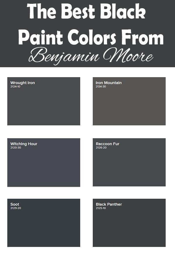 Benjamin Moore Wrought Iron Vs Iron Mountain : benjamin, moore, wrought, mountain, Black, Paint, Colors, Benjamin, Moore, Honeycomb, Color,, Moore,, Exterior