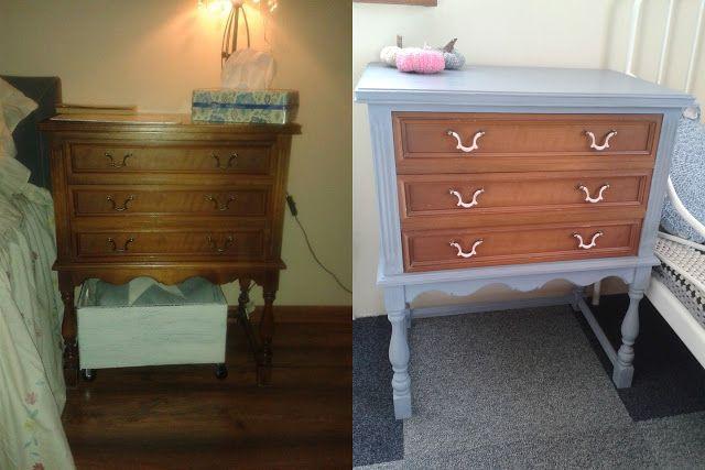 malowanie mebli, painted furnitue, chalk paint, farba kredowa, komoda, chest of drawers