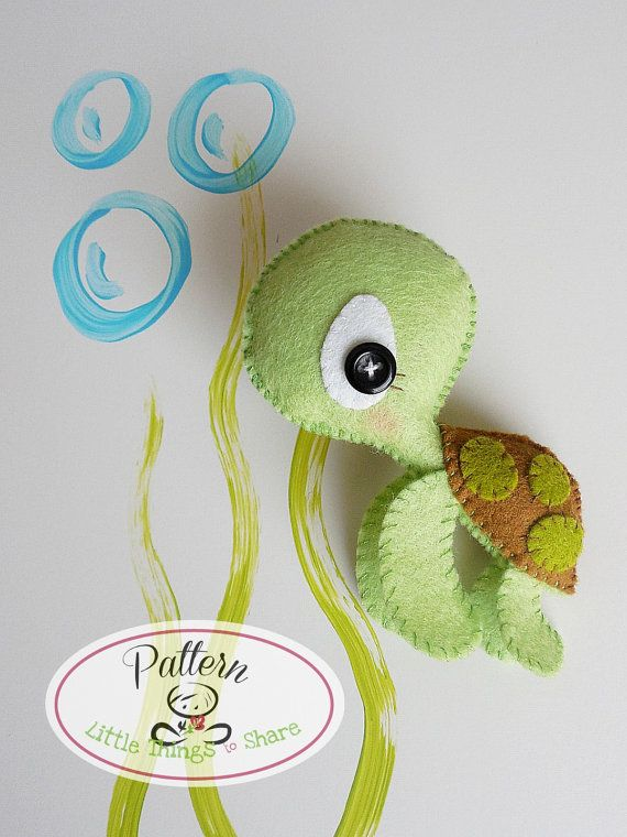 The Turtle PDF pattern-Sea animals от LittleThingsToShare на Etsy