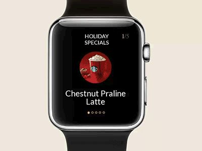 Starbucks apple watch concept animation