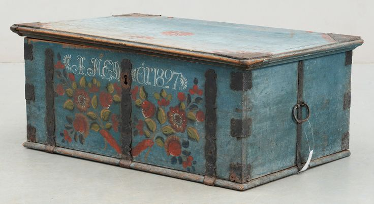 In the novel Shabby Chic at Heart, Tara would drove this Nordiska Style Antique Swedish Wedding Trunk