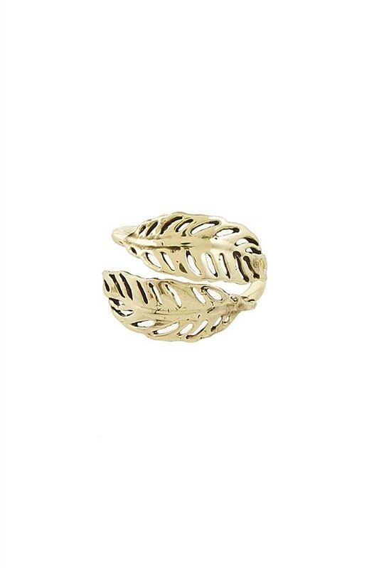 Double-headed Leaf Ring