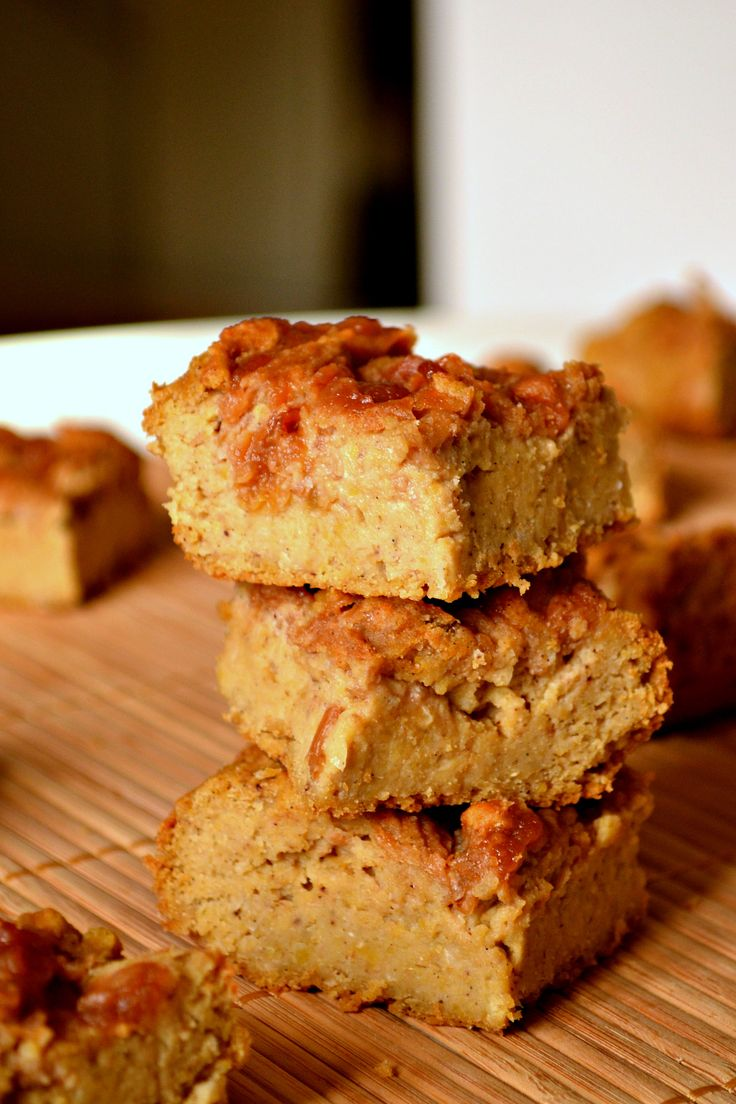 Tahini Apple Butter Blondies | Harmony à la Carte: