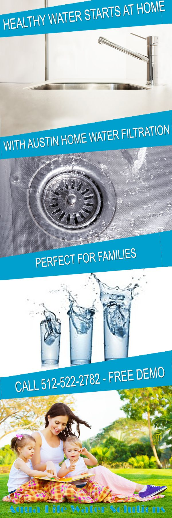 Healthy water starts at home. Our home water filtration company installs water filtration systems in Austin, Texas that remove contaminants from your tap water, making it safe for everyone in your family to drink. Call for your FREE water test - demo only takes 20 minutes: 512-522-2782 www.aqualifetx.com