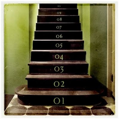 escaliers numérotés