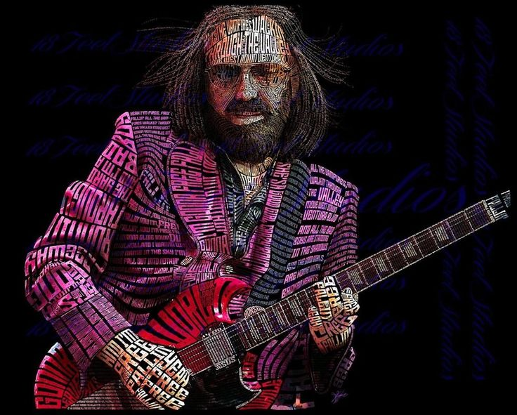 Tom Petty Typography Portrait by lilysmom85.deviantart.com on @DeviantArt