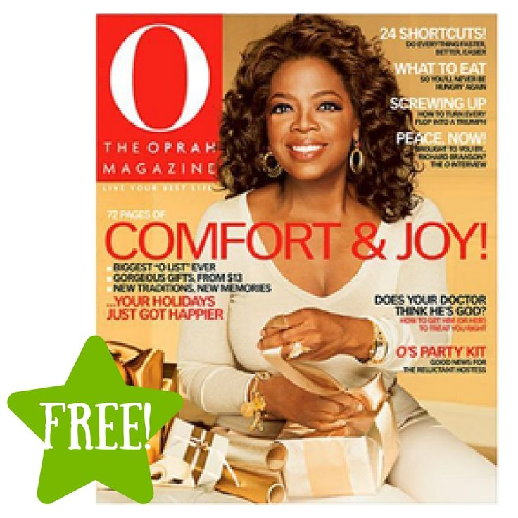 FREE O, The Oprah Magazine Subscription - http://www.couponsforyourfamily.com/free-o-the-oprah-magazine-subscription/