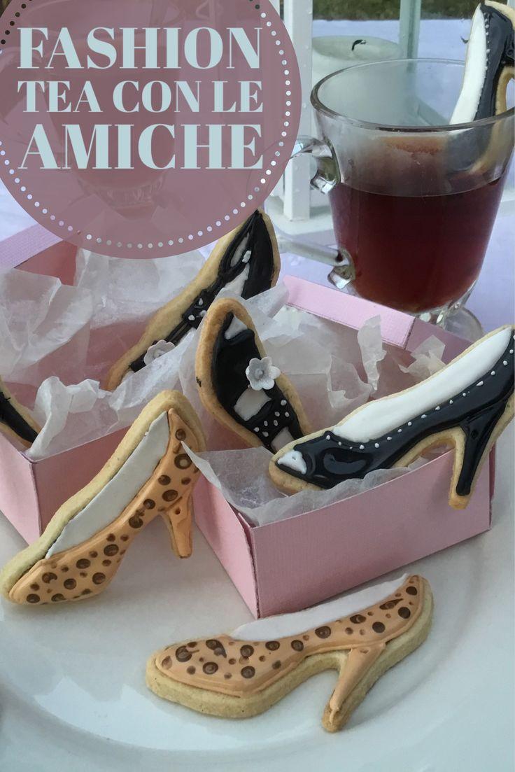Eleganti Biscotti a forma di scarpa decorati con ghiaccia reale