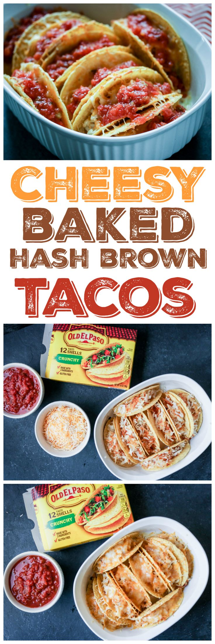 I love this easy breakfast - hash browns and cheese baked in a taco shell!