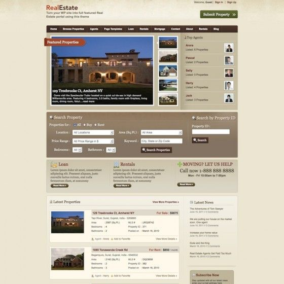 Use this Real Estate WordPress theme to showcase your agency's rental and sales opportunities, or gather all the real estate info for your city!Estate Wordpress, The Real, Wordpress Theme, Estate Info, Sales Opportunity, Real Estate, Agency'S Rental