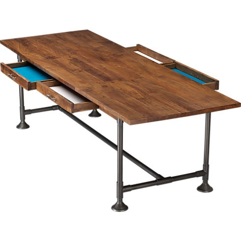 Or a crafting table?  Bet Dugan could build this, cause damn, $1300.... hearty table 36x104 in dining tables | CB2