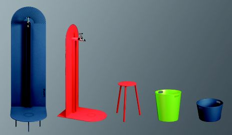Laorus - Mobilier de jardin - fontaine thermolaqué