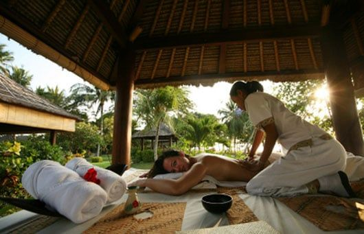 Balinese massage techniques include acupressure, skin rolling, flicking, firm and gentle stroking, percussion and use of essential oils.
