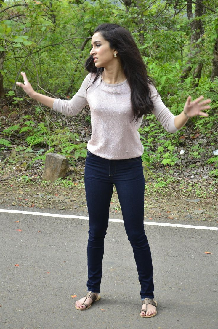 Shraddha Kapoor during the on location shoot of television serial CID to promote her  film Ek Villian in Mumbai