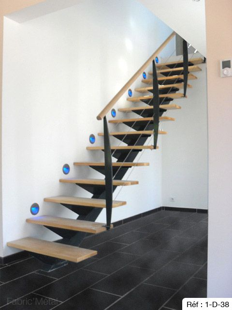 37 best escaliers images on pinterest home ideas interior stairs and modern stairs. Black Bedroom Furniture Sets. Home Design Ideas