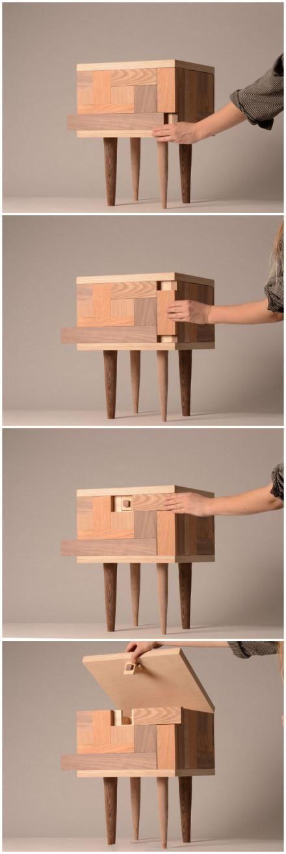 Puzzle hidden storage stool   Top Creative Works