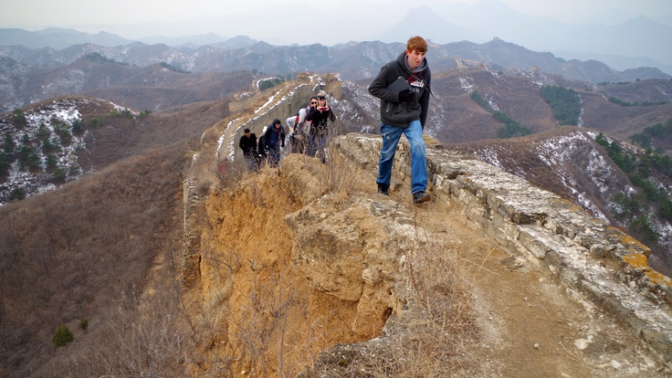Hiking the Great Wall of China Jinshanling. Photo by Kayla Hedman