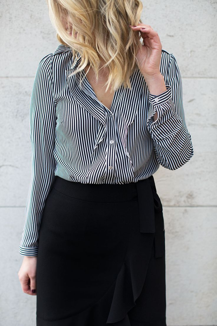 Introducing Have-to-Haves; from slogan sweats to romantic ruffles, these fashion staples are set to take your wardrobe by storm... Click the image to shop the Stripe Frill Shirt. #havetohaves #oasisfashion