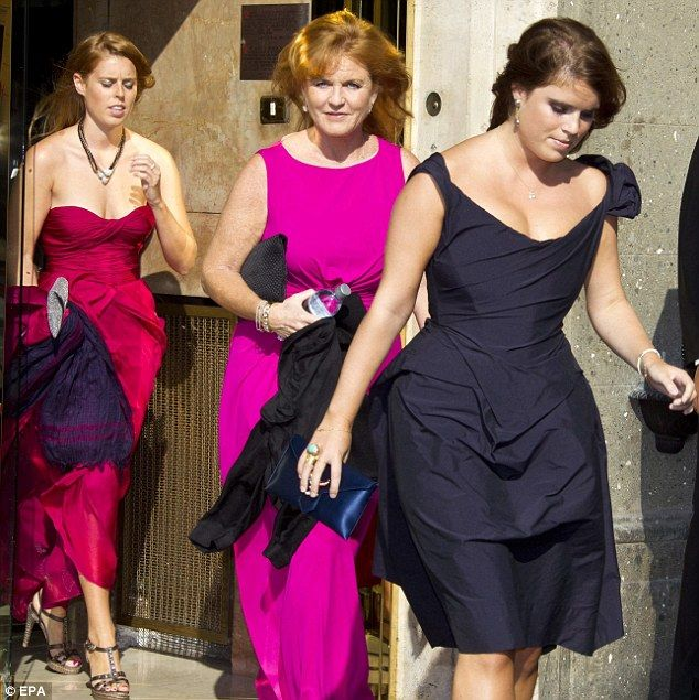 Fergie The Duchess of York & Daughters Princess Beatrice and Eugenie