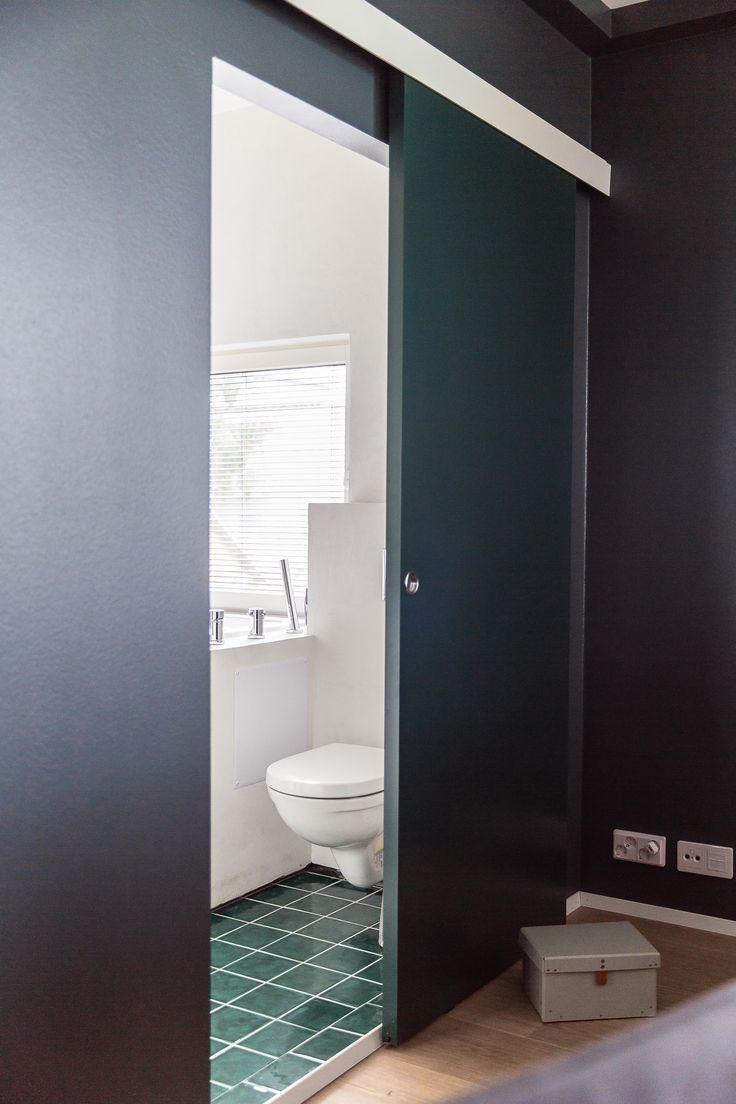 JELD-WENin seinän päällä liukuva ovi Steady 411 slide, erikoisväri vihreä