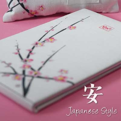 Cherry Blossom Guest Book  -- Coordinate with our other cherry blossom wedding collection items!