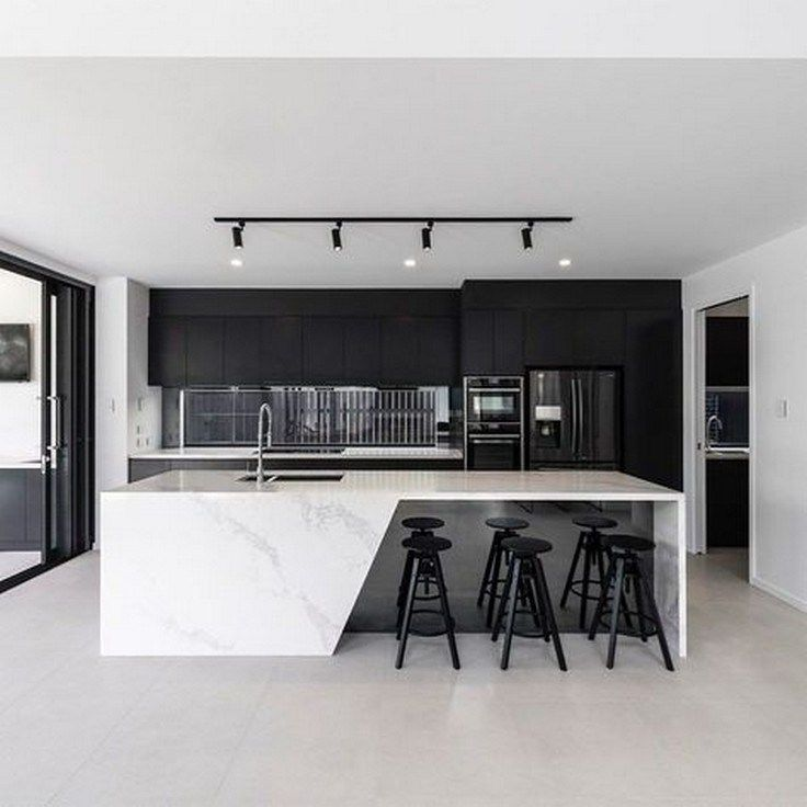 ✔60 gorgeous black kitchen ideas for every decorating style 53 #kitchendesign #kitchenideas