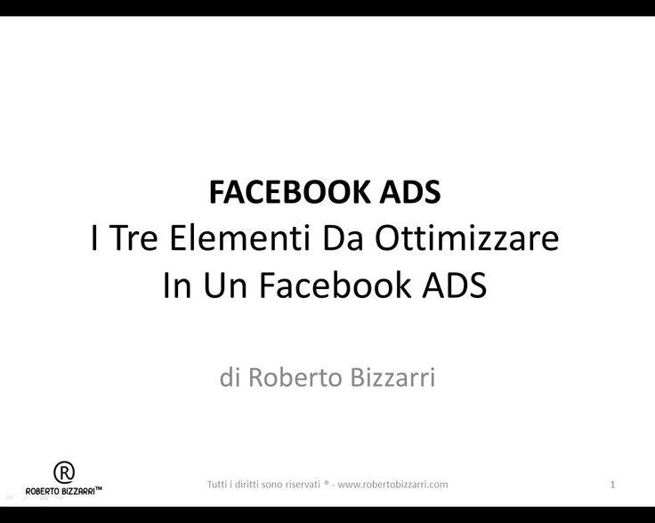Cosa Ottimizzare In Un Facebook ADS