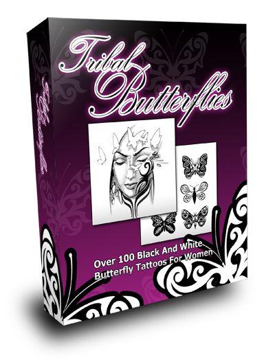 Tribal  Butterflies Tattoo Collection