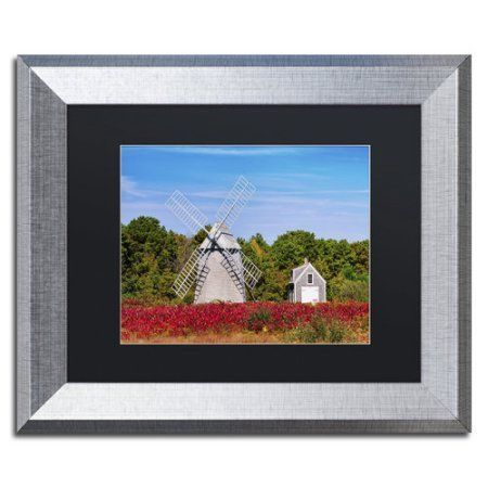 Trademark Fine Art 'Higgins Farm' Canvas Art by Michael Blanchette Photography, Black Matte, Silver Frame, Assorted
