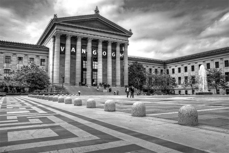 Philadelphia Museum of Art in Black & White