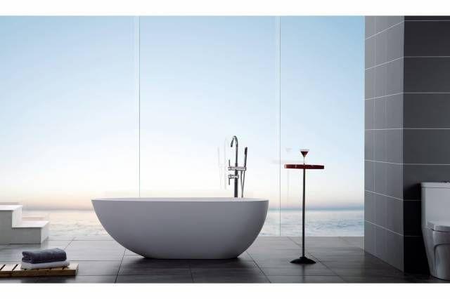 Bathlife Badekar Ideal Design Helstøpt Marmor 150 Cm - Trademax