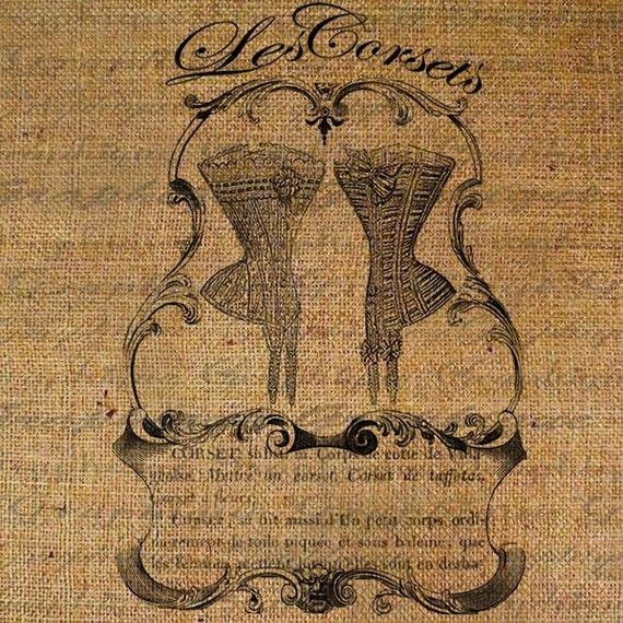 Les Corsets Korsetts französisches Wörterbuch von Graphique auf Etsy, $1.00