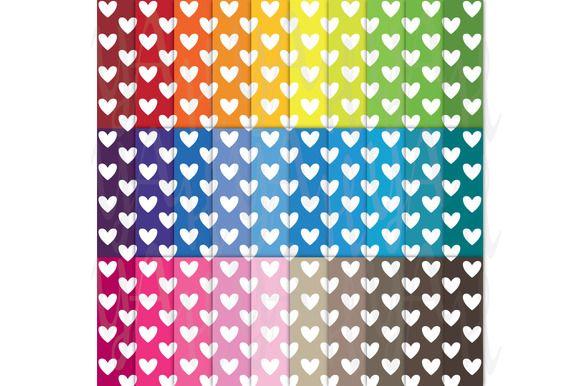 Check out 30 Rainbow Heart Shape Digital Paper by YenzArtHaut on Creative Market
