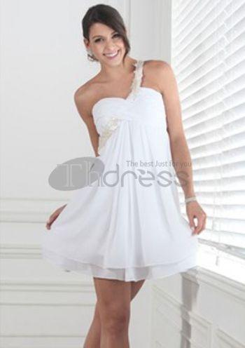 Empire Sweetheart Short/Mini Chiffon Charmeuse Short Evening Dresses