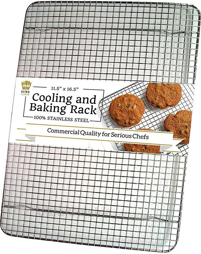 Ultra Cuisine 100 Stainless Steel Wire Cooling Rack For Baking