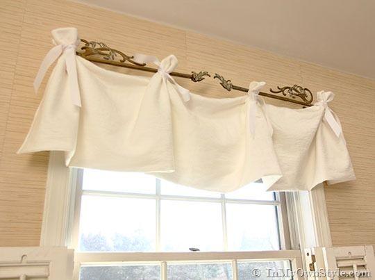 No Sew Window Valance Window Valances Easy Diy And