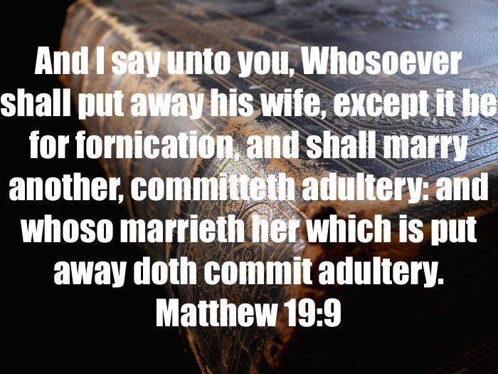 fornication vs adultery dating 2) killing pre-born babies, (that are usually conceived in fornication or adultery)  3) birth control pills, implants, iud's and sterilization.