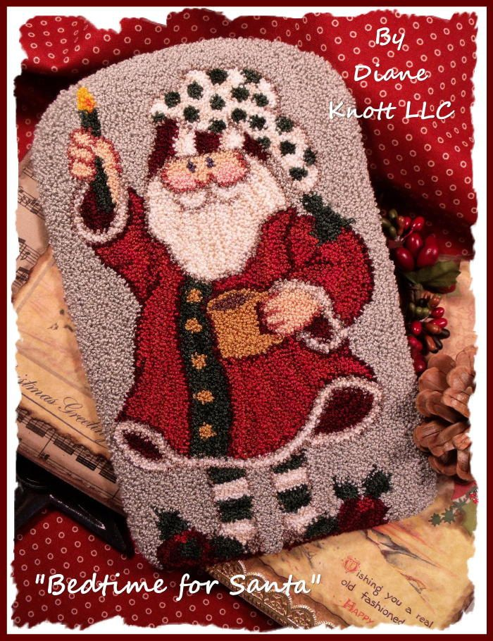Bedtime for Santa Punch Needle Pattern Download by Diane Knott LLC by DianeKnottLLC on Etsy