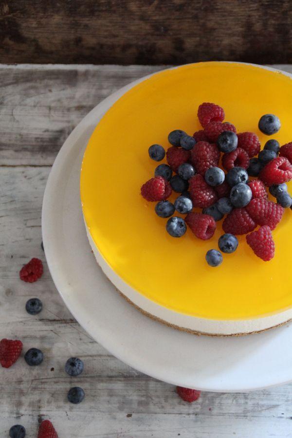 ostekake med sitron og gelélokk
