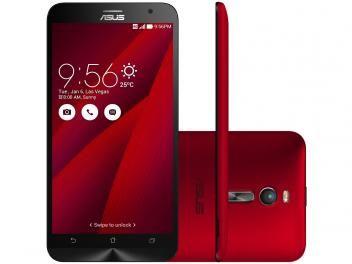 "Smartphone Asus ZenFone 2 16GB Vermelho Dual Chip - 4G Câm. 13MP + Selfie 5MP Tela 5.5"" Full HD"