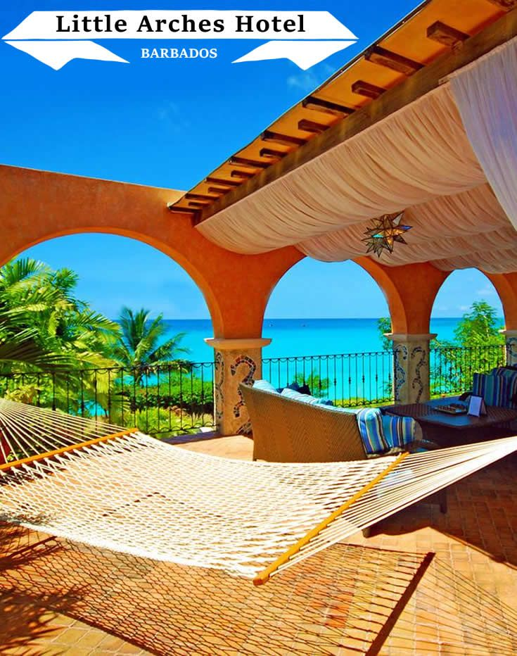 This delightful Barbados boutique hotel with charming Mediterranean architecture overlooks Miami Beach...
