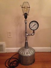 Steampunk Lamp Upcycled Industrial Age OOAK Functional ART ~ Very Cool!  Steampunk LampTable LampsDeskIndustrial