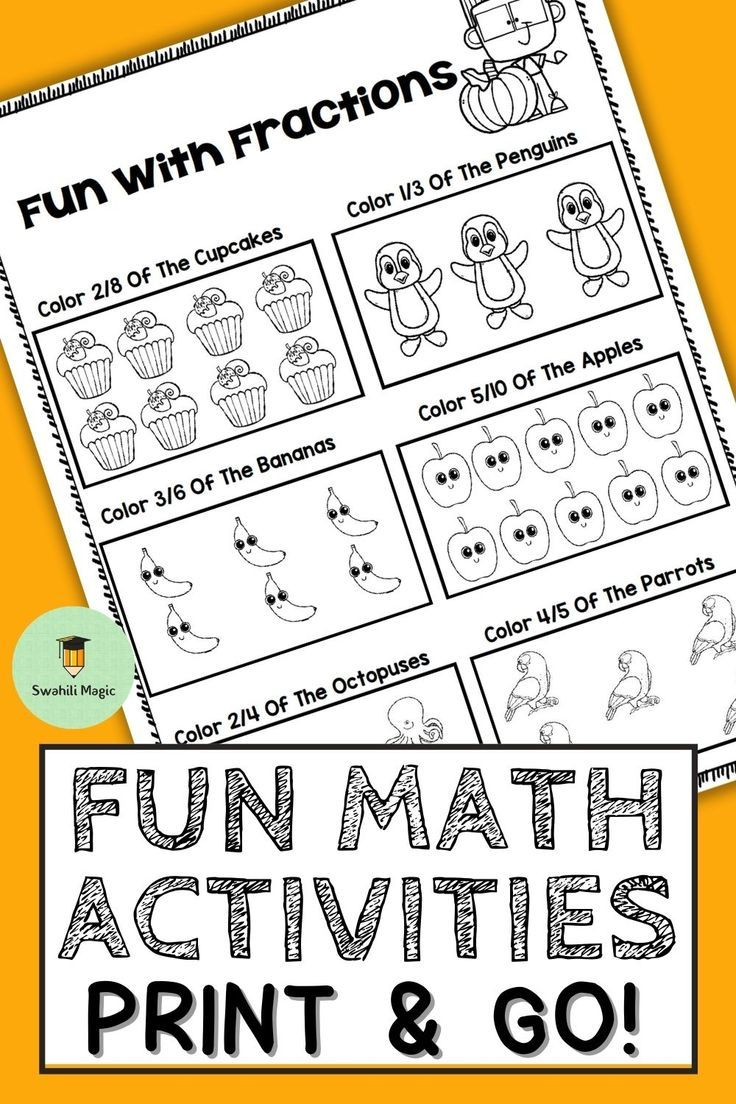 Math Activities Worksheets Math Activities Fun Math Activities Fun Math
