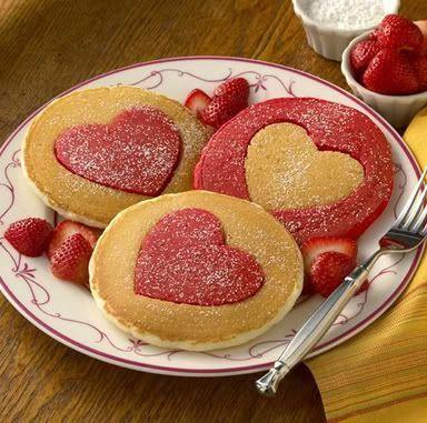 heart Pancakes hearts breakfast recipe recipes pancakes valentines day valentines day recipes