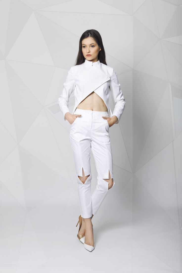 Jacket and pants. Feminine and stylish.
