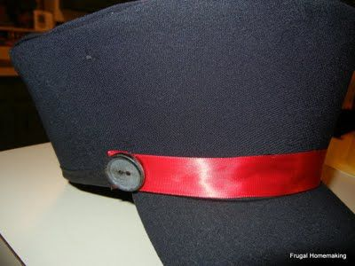 make train conductor hats for Polar Express