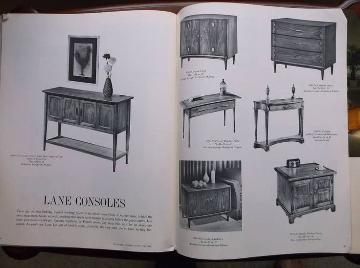 Vintage Lane Furniture Table Portfolio Catalog Fall 1964